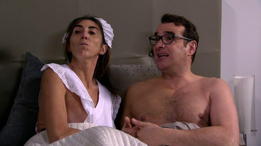 Ya vale de sutilezas: ¡la Chusa se desnuda para conquistar a Bruno!