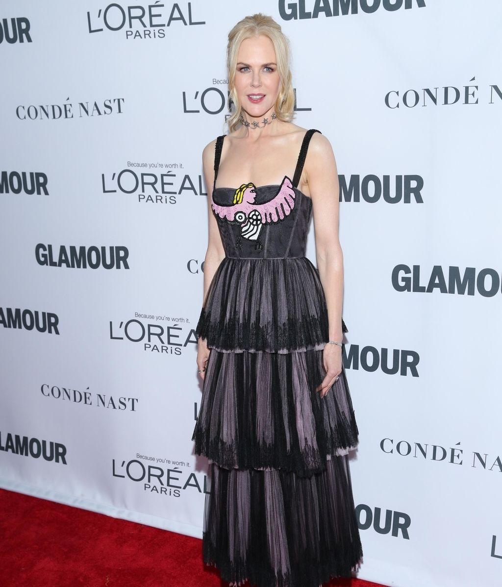 Nicole Kidman fue fiel a Dior con un vestido vaporoso y de tirantes