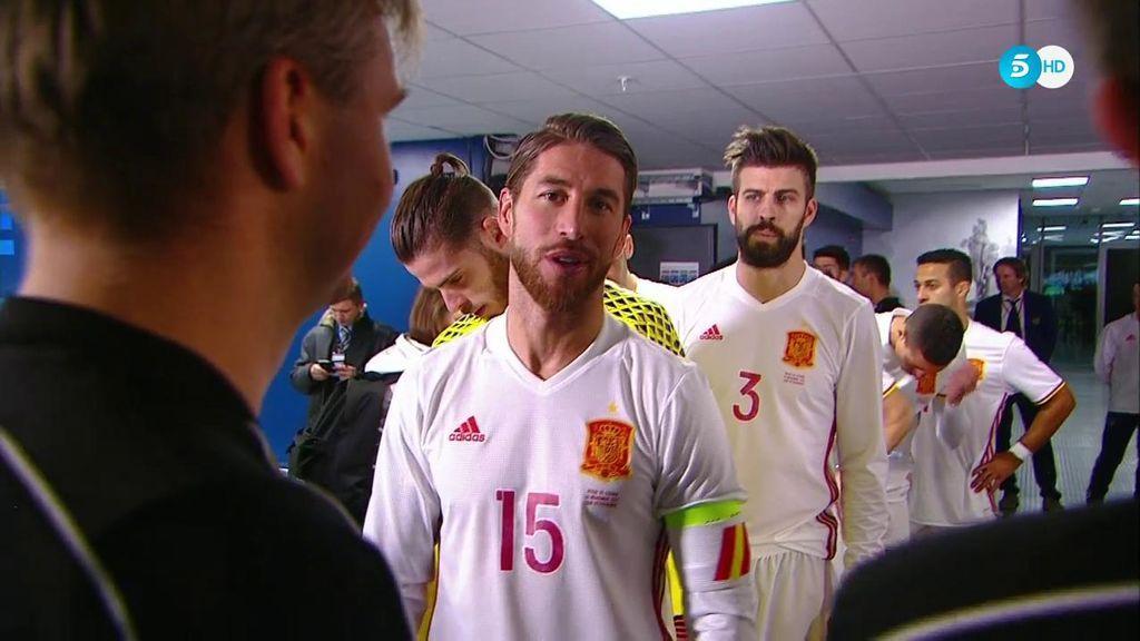"""La conversación de Sergio Ramos y el árbitro italiano en el túnel de vestuarios: """"Para la próxima Copa del Mundo"""""""