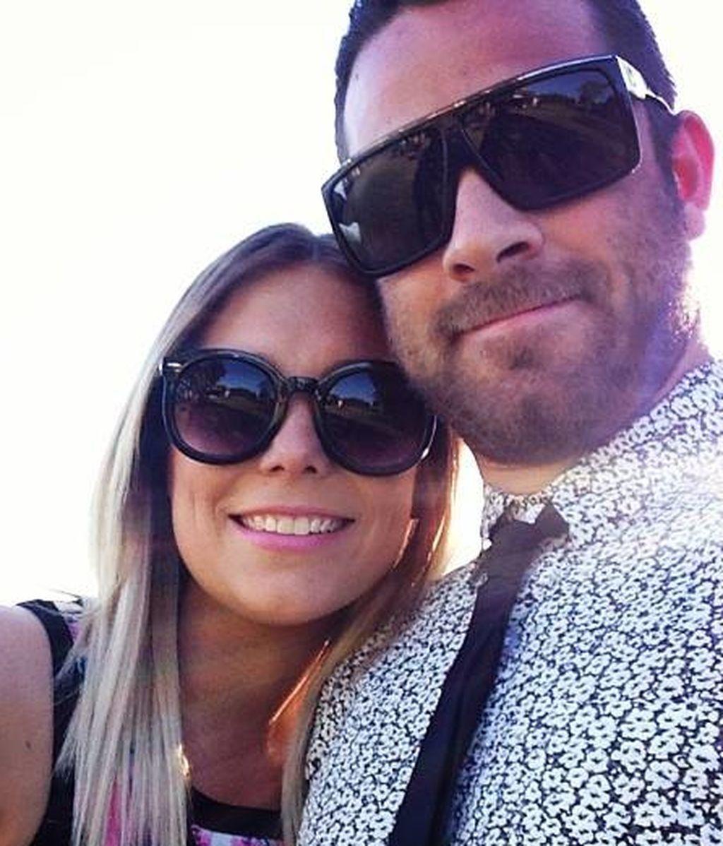 Leah con Ben, su marido