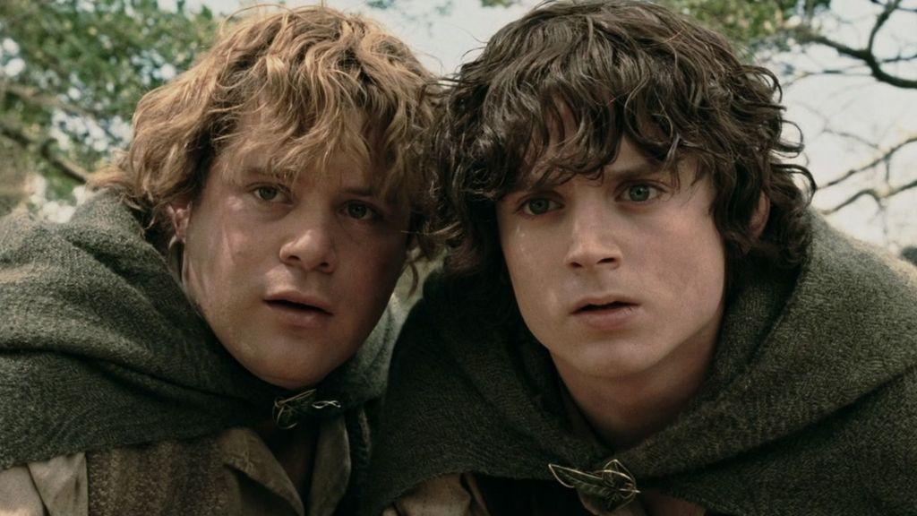 Elijah Wood (Frodo) y Sean Astin (Sam) en 'El señor de los anillos: Las dos torres'.