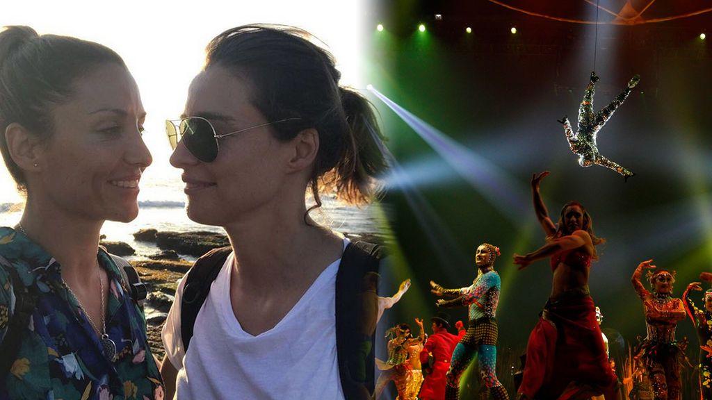 Sandra Barneda y Nagore Robles, más enamoradas que nunca ante el 'Circo del Sol'