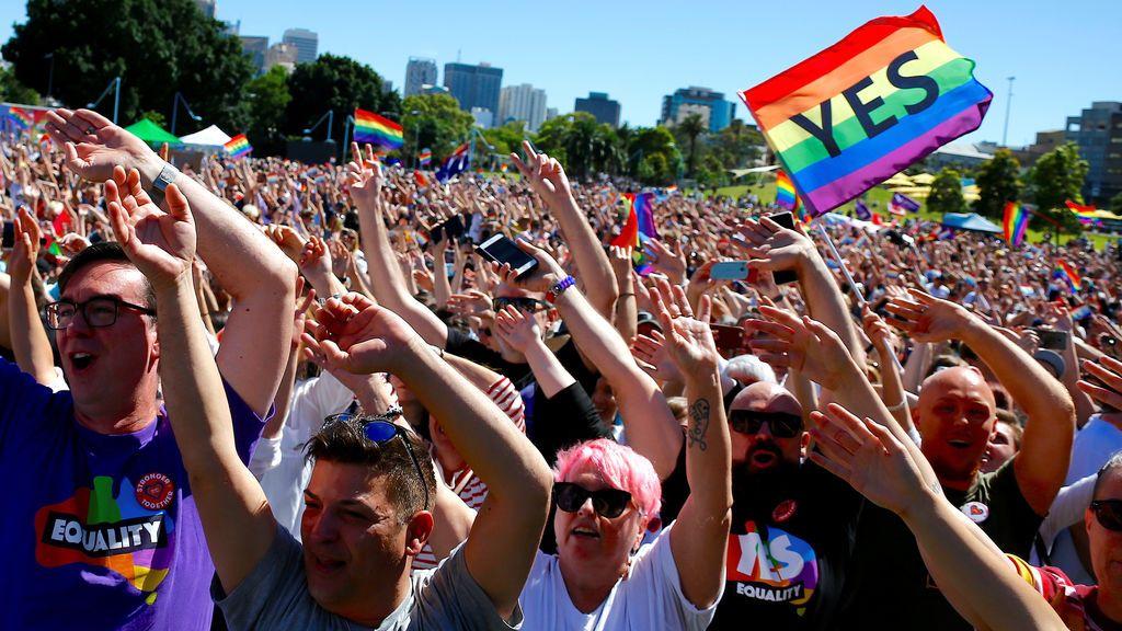 Los australianos dicen 'sí' al matrimonio homosexual con un 61,6 %  de los votos