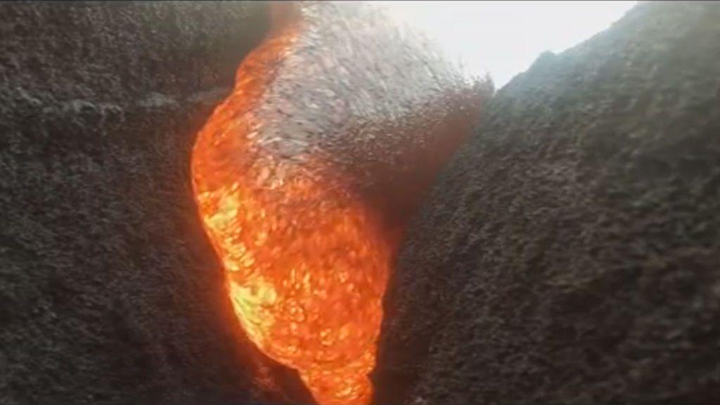 Una GoPro 'sobrevive' a la lava de un volcán