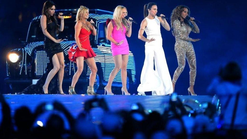 Las Spice Girls, en los Juegos Olímpicos de Londres 2012.
