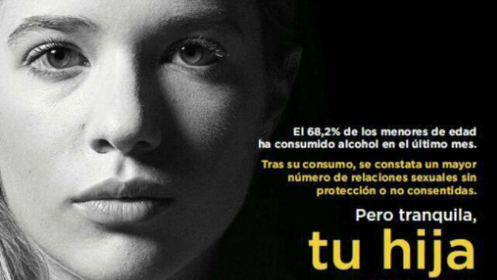 Sanidad retira un cartel de la campaña Menores sin Alcohol que vinculaba la ingesta en mujeres con violaciones