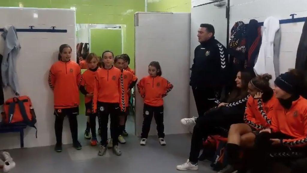 ¡El momento más tierno! Las palabras de ánimo de las niñas de la cantera a la primera plantilla del Zaragoza CFF