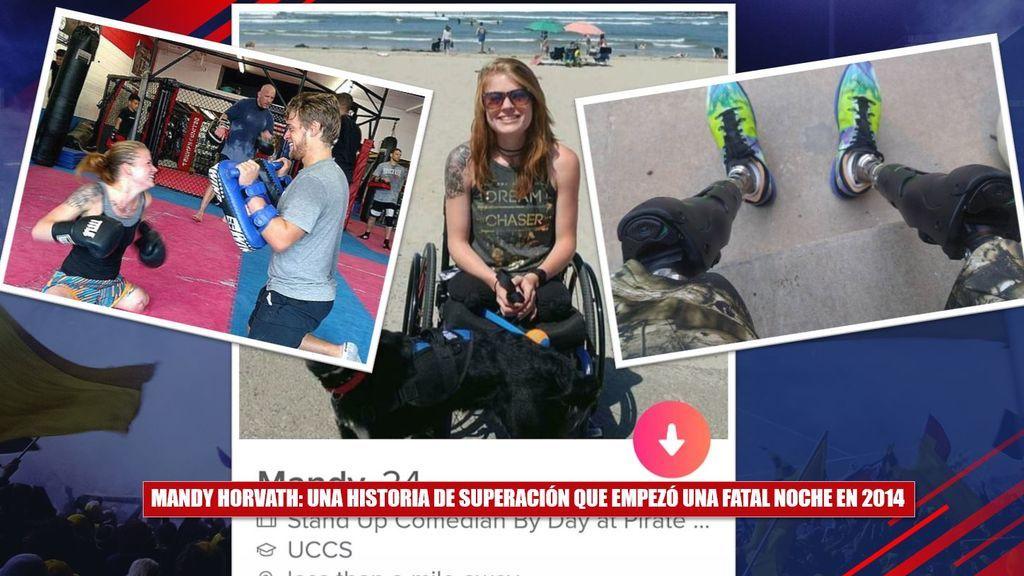 Superación... ¡y sentido del humor! Mandy Horvarth, amputada de dos piernas, se ríe de sí  misma y triunfa en Tinder