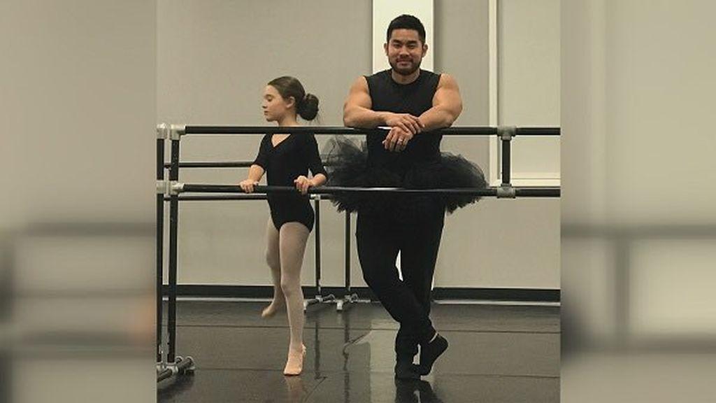 ¡Lección de padrazo! De culturista, a bailarín de ballet: todo por la felicidad de su hija