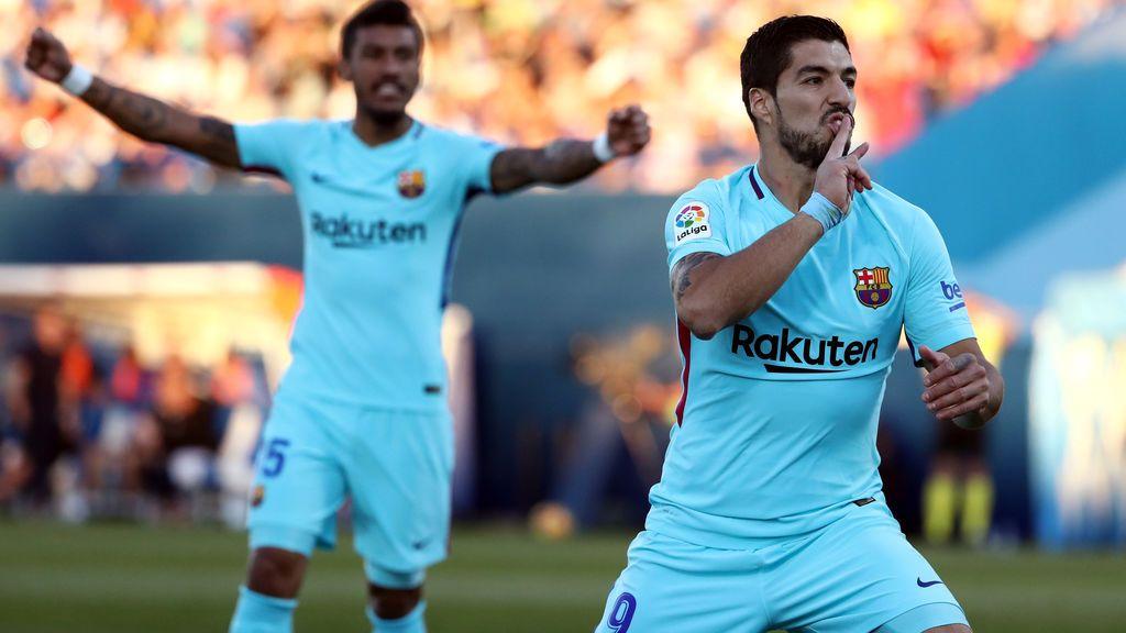 Luis Suárez, decisivo en la victoria de un Barça con pocas ideas en Butarque (0-3)
