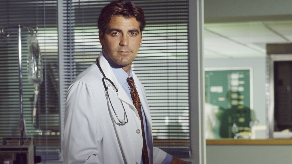 George Clooney interpretaba al doctor Doug Ross en 'Urgencias'.
