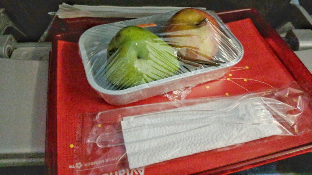 Pide un menú vegetariano durante un vuelo pero se lleva una sorpresa