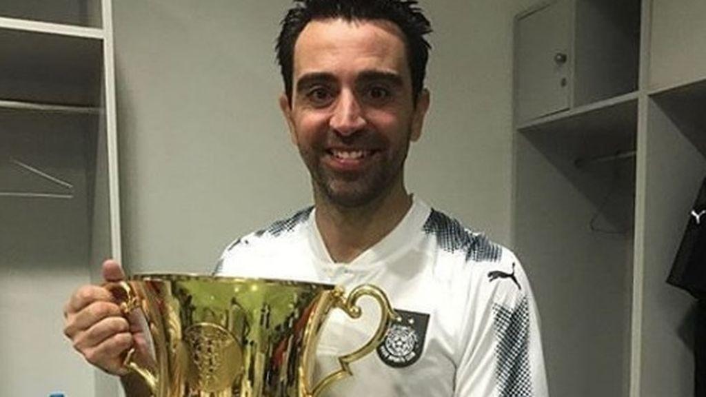 La última obra de arte de Xavi en Qatar: ¡Golazo por la escuadra!