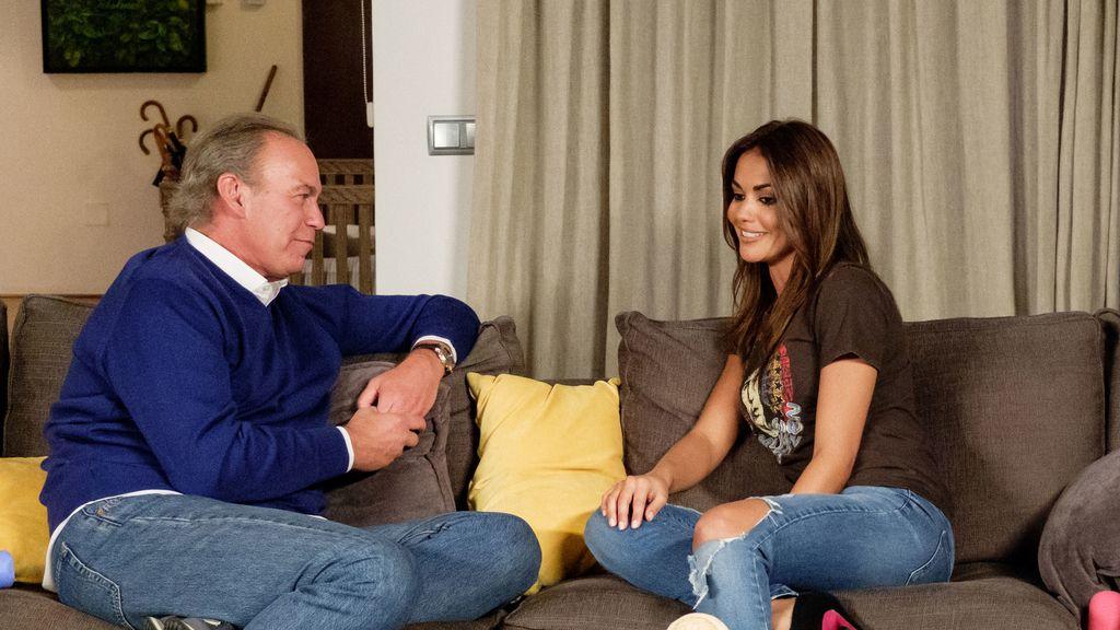 Florentino Fernández, Dani Martínez y Lara Álvarez visitan a Bertín Osborne en 'Mi casa es la tuya'.