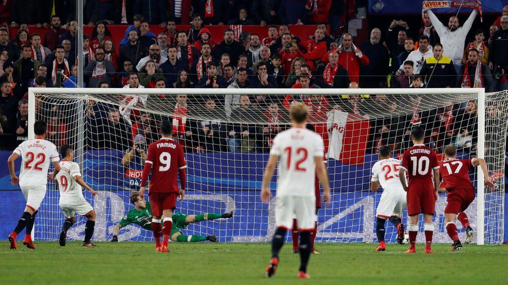El Sevilla resucita al descanso ante el Liverpool y empata en el descuento un partido heroico (3-3)