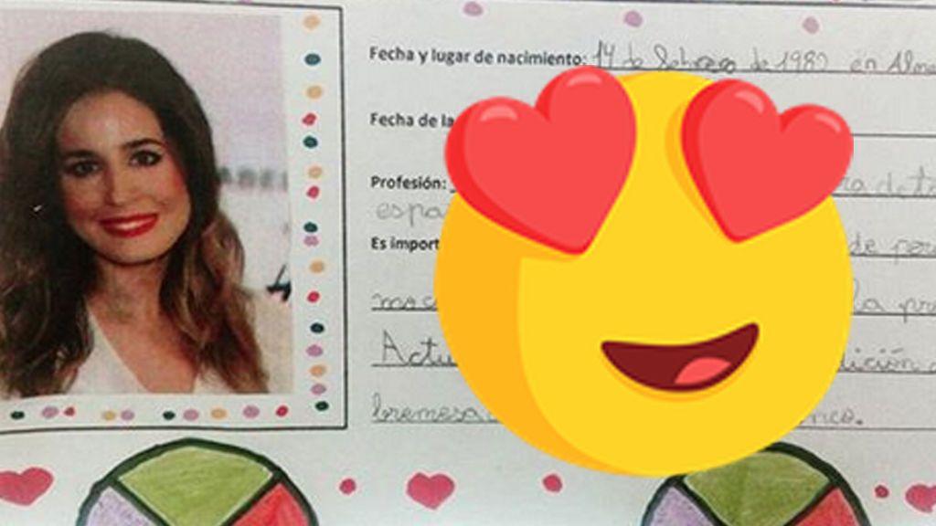 La descripción de un niño sobre Isabel Jiménez que hace que 'muera de amor'