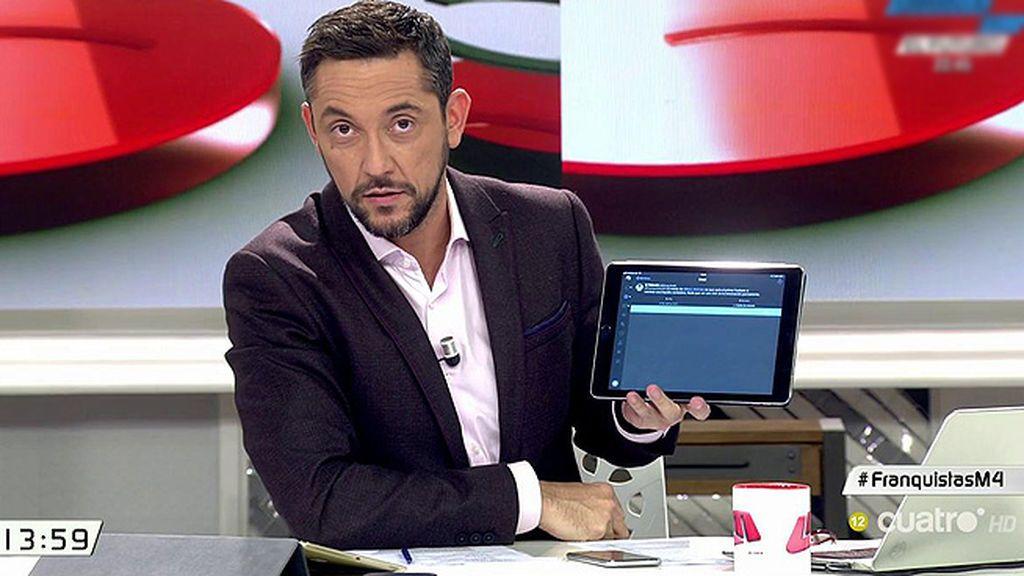Javier Ruiz recibe una amenaza en redes sociales