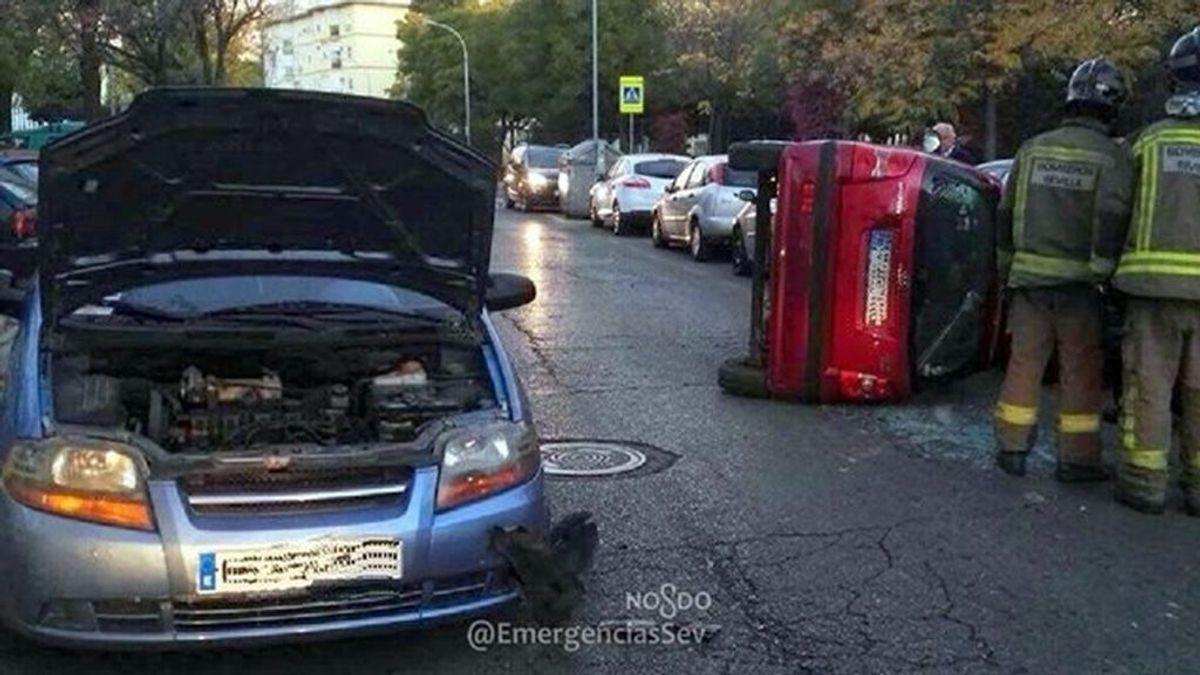 Una conductora que viajaba con su hijo provoca un accidente en Sevilla quintuplicando la tasa de alcohol