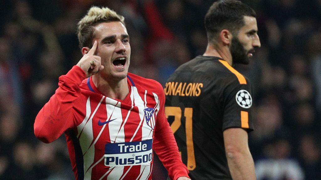 El Atlético gana a la Roma en el Metropolitano (2-0) y sigue soñando en la Champions
