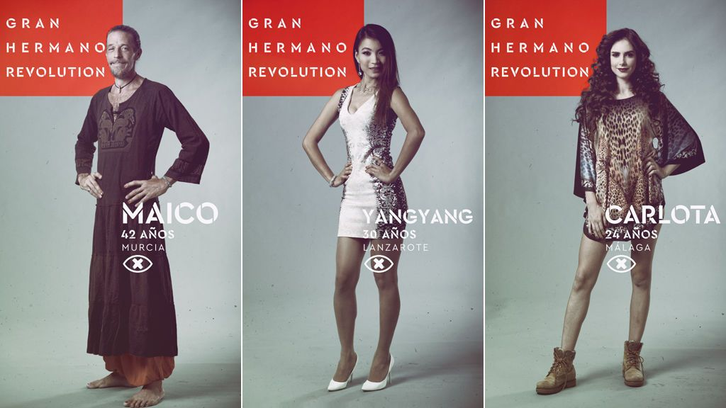 Maico, Yangyang y Carlota, nominados en la undécima gala de 'Gran hermano revolution'.