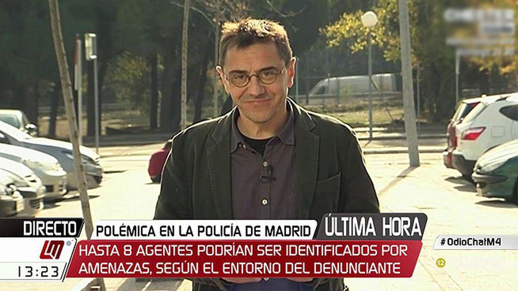 La entrevista de Juan Carlos Monedero en 'Las Mañanas de Cuatro', a la carta