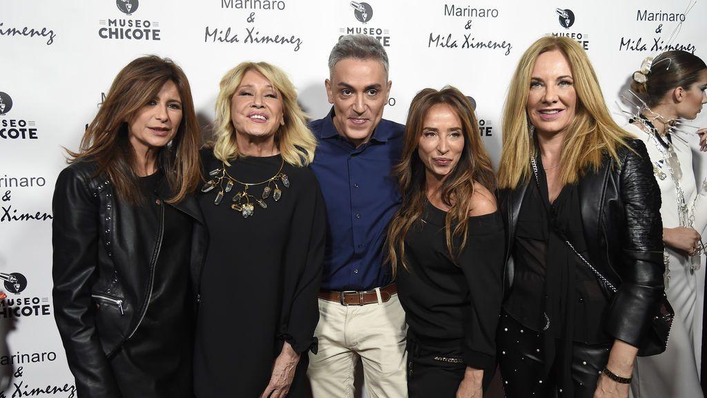 ¡En familia! Los compañeros de 'Sálvame' acompañan a Mila Ximénez en su negocio de joyas