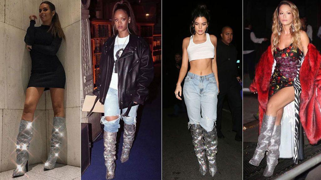 Pedroche, Rihanna, Kendall o Rita Ora: ¿a quién le quedan mejor las botas 'brilli brilli' de la temporada?, ¡Vota!