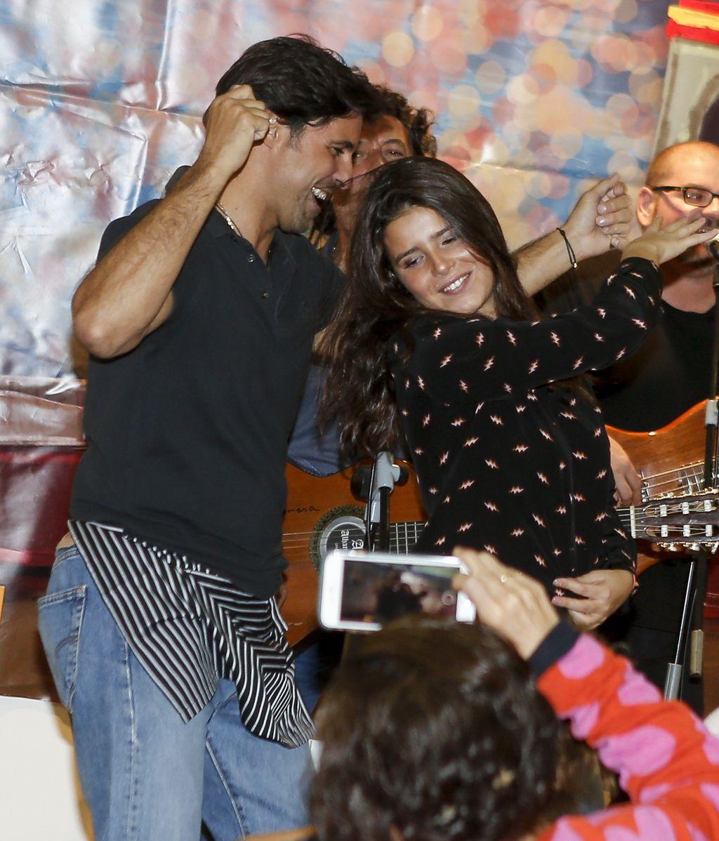 Tana Rivera lo dio todo en su primera salida padre-hija