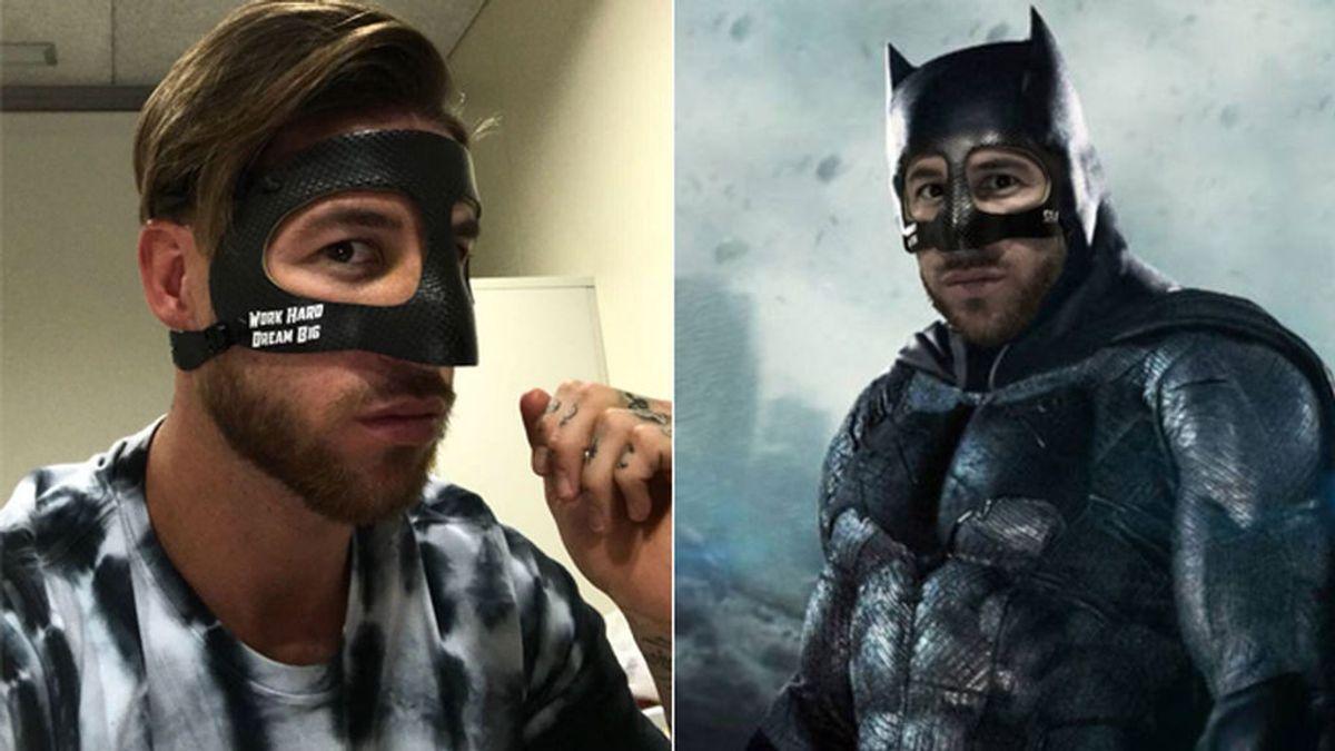 Sergio Ramos estrena máscara y… se transforma en Batman: los mejores memes del defensa