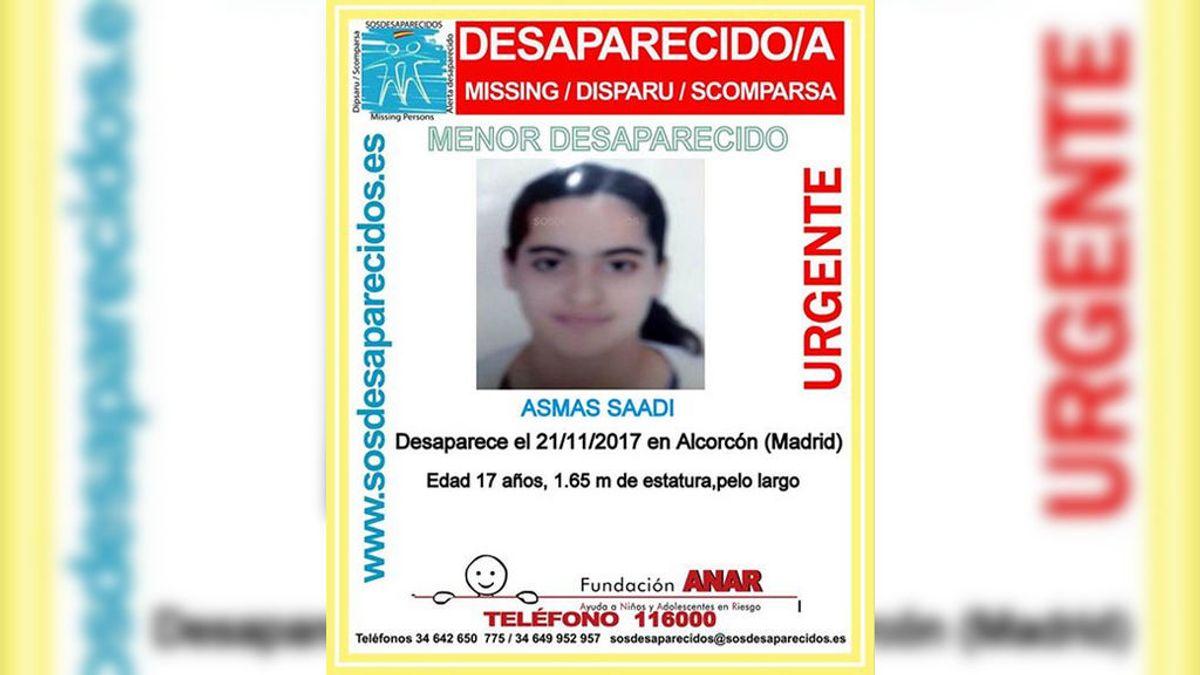 Buscan a Asmas Saadi, una menor de 17 años, desaparecida en Alcorcón (Madrid)