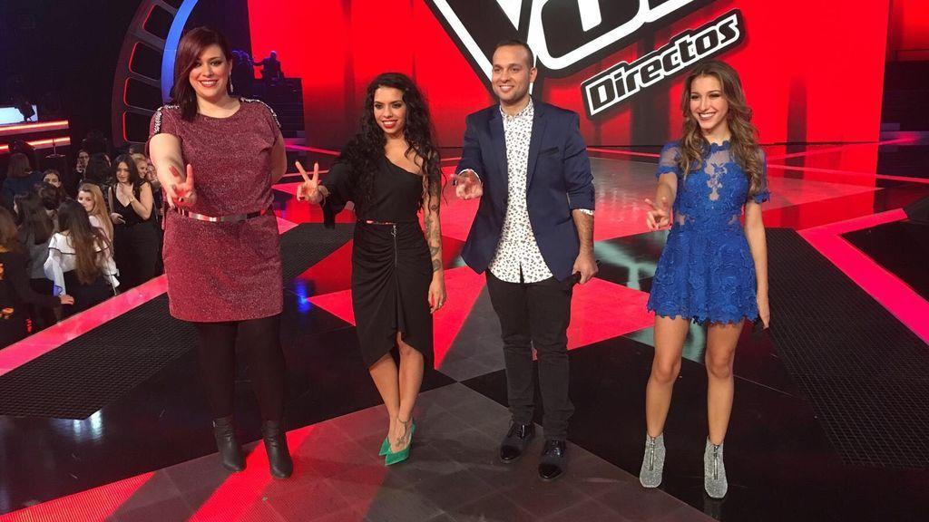 Charo, Carlos, Laura y Elena: ¡Los cuatro vencedores de la primera noche de directos!