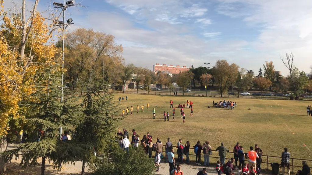 Partido de rugby en Orcasitas, Madrid