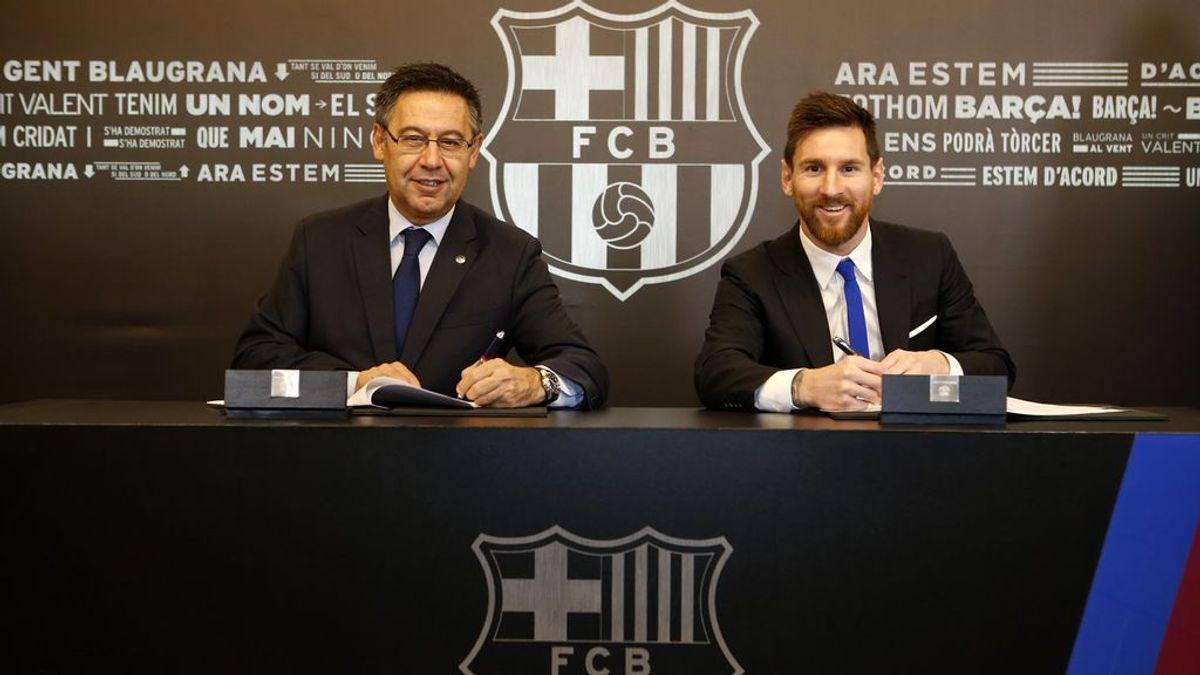 ¡Ya es oficial! Leo Messi renueva con el Barcelona hasta 2021