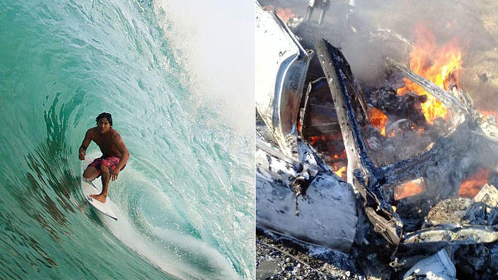El surf mexicano llora la muerte de Óscar Moncada y Diego Oropeza