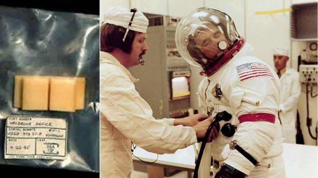 ¿Ves la espongita? Es para que los astronautas logren rascarse la nariz sin volverse locos