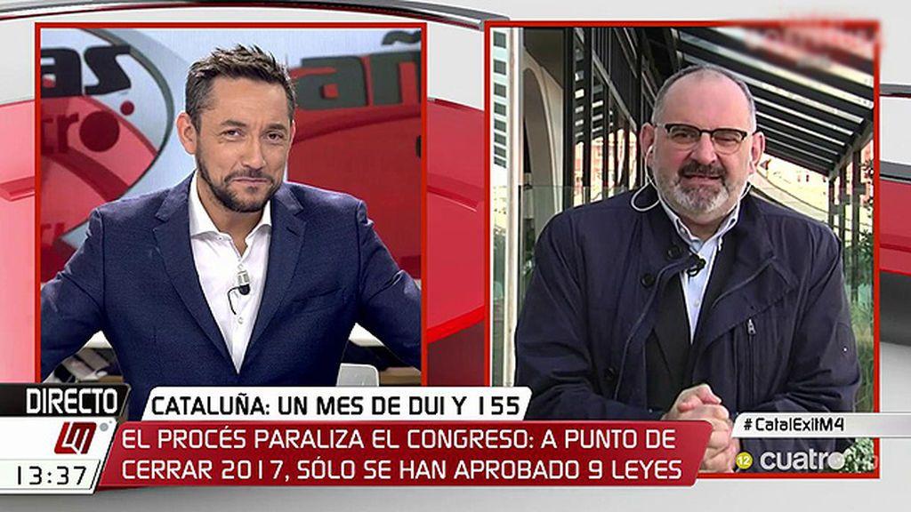 """Losada, irónico con las palabras de Albiol que propone abrir TV3 con gente """"normal"""": """"Gente normal es la que dice el PP que es normal"""""""