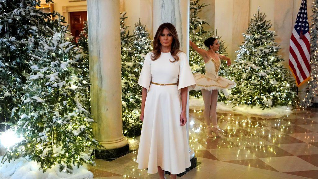 Melania Trump se encarga de los adornos navideños de la Casa Blanca, Washington, EEUU