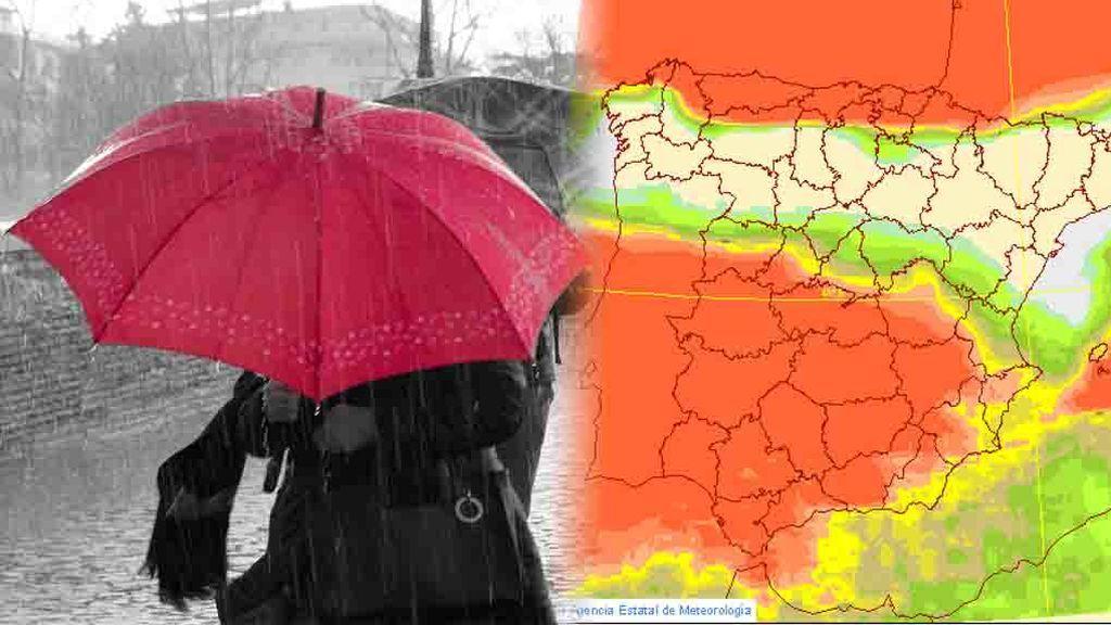 Lloverá (mucho) en el norte y en sur:  te contamos dónde y cuándo exactamente