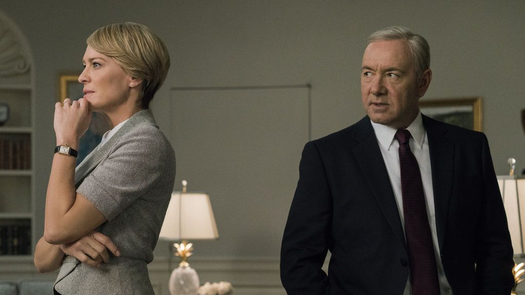 Robin Wright (que interpreta a Claire Underwood) y Kevin Spacey (Frank Underwood), en la quinta temporada de 'House of cards'.