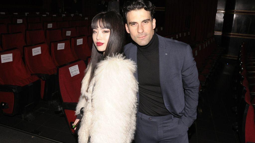Christian Sánchez a su llegada al Cine Capitol