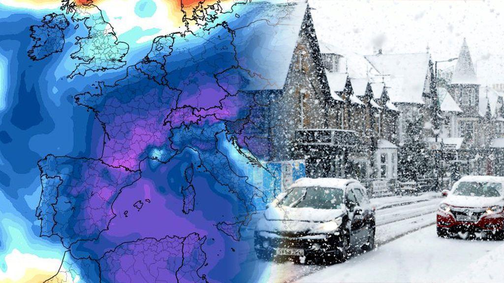 Nevadas y temperaturas de hasta -37ºC: la masa de aire polar afectará a toda Europa