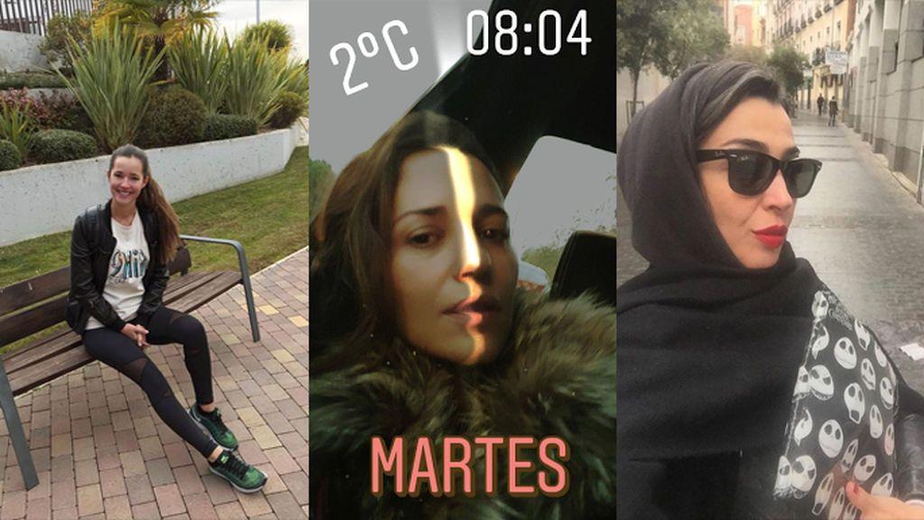 """""""Qué frio!!!!!!"""": los vips cuentan cómo les ha pillado el frío helador en sus redes sociales"""