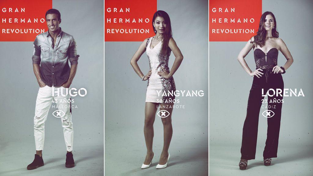 Hugo, Yangyang y Lorena, nominados en la duodécima gala de 'Gran hermano revolution'.