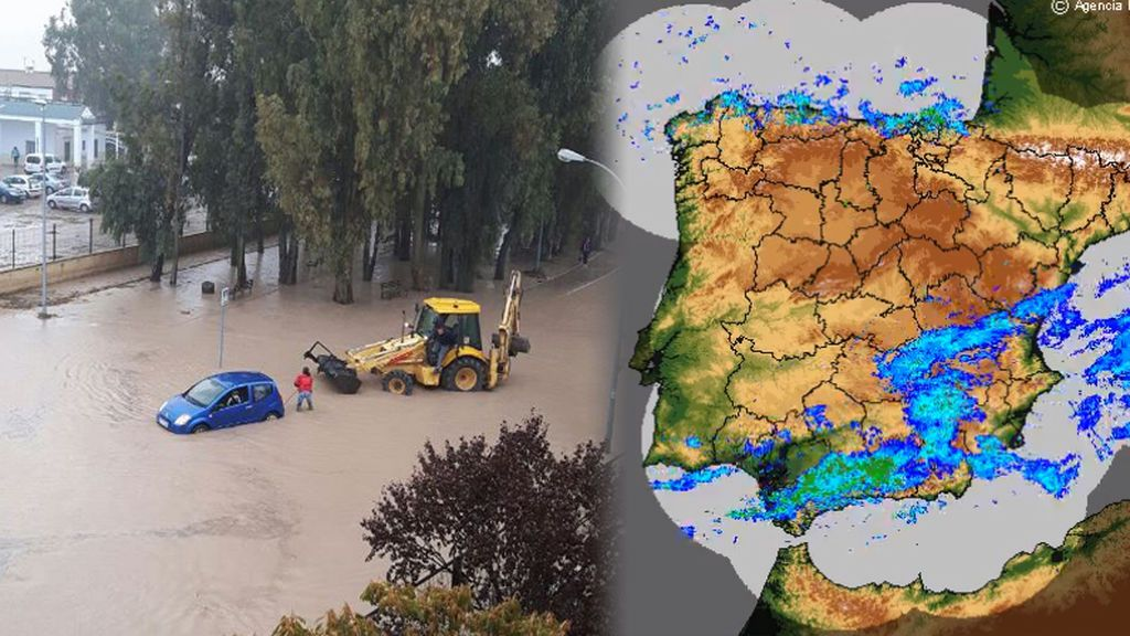 Andalucía, colapsada: inundaciones, atrapados en coches y cientos de incidencias por las lluvias