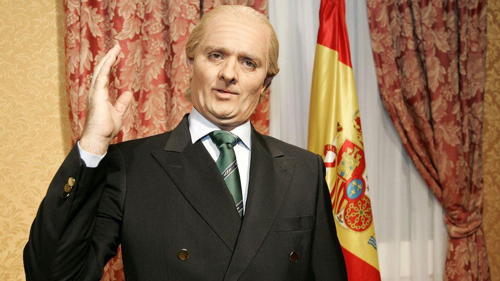 Toni Albà, caracterizado como el rey emérito Juan Carlos I en el programa de TV3 'Polònia'.