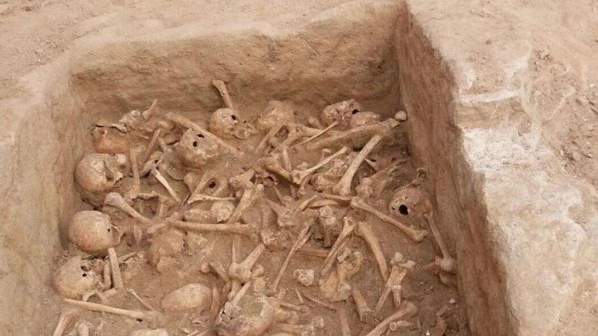 Hallan 90 cráneos y varios huesos humanos en unas obras en la calle Atocha de Madrid