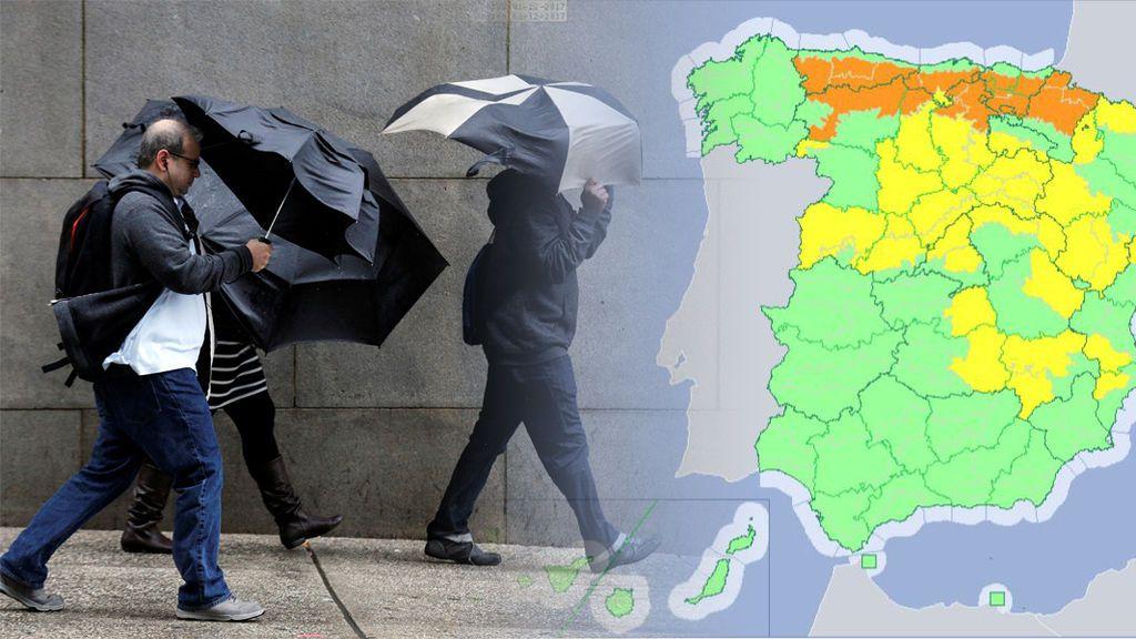 35 provincias españolas, en aviso por frío, nieve, viento y fenómenos costeros