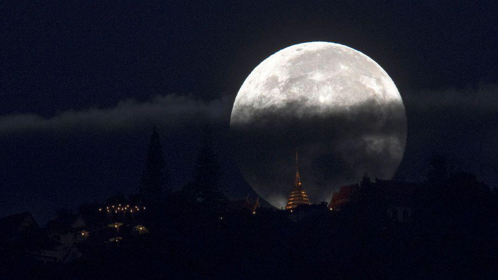 El cambio de año traerá una trilogía de superlunas