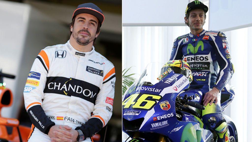 Valentino Rossi, ¿compañero de equipo con Fernando Alonso en 'Las 24 Horas de Le Mans'?