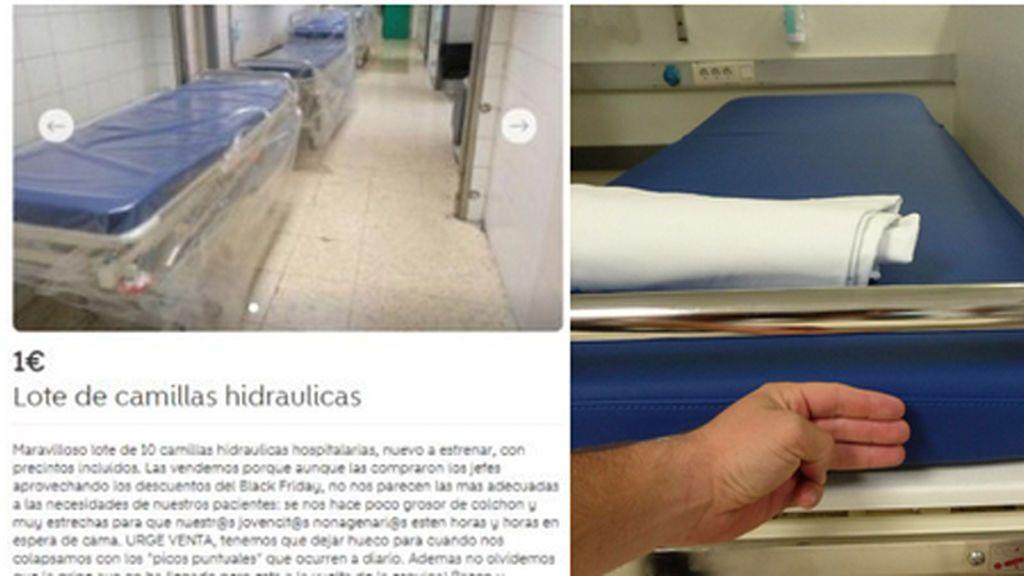 El hospital La Paz denuncia el anuncio en Wallapop que pone en venta camas del hospital a 1 euro